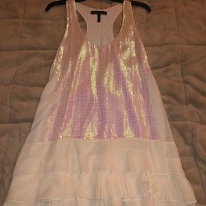 Dresses & Skirts - BCBG Sequined, white and pink party dress